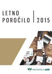 Letno poročilo Hranilnice LON za poslovno leto 2015