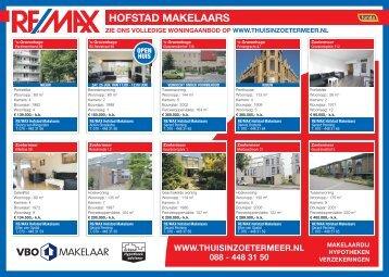 Re/Max Hofstad, Zoetermeer Dichtbij, week 25