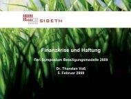 Finanzkrise und Haftung