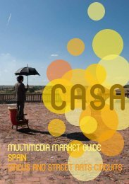 MULTIMEDIA MARKET GUIDE – SPAIN CIRCUS AND STREET ARTS CIRCUITS