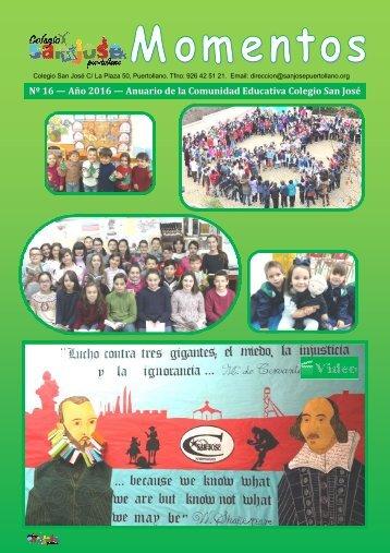 Nº 16 — Año 2016 — Anuario de la Comunidad Educativa Colegio San José