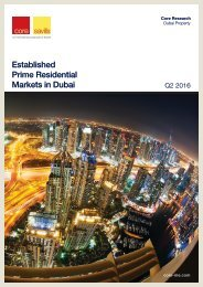 Established Prime Residential Markets in Dubai