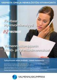 Valmennuskumppanin Firstbeat Hyvinvointianalyysit