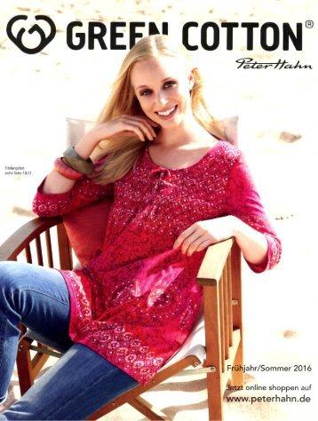 Каталог Green Cotton весна-лето 2016. Заказ одежды на www.catalogi.ru или по тел. +74955404949