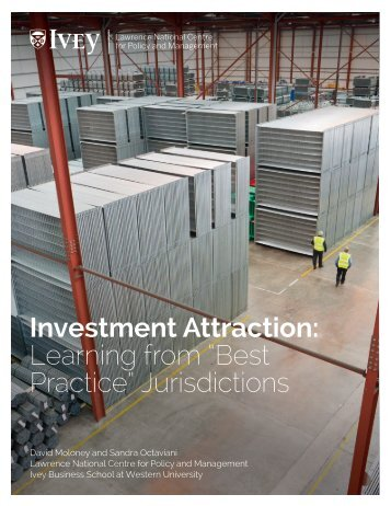 "Investment Attraction Learning from ""Best Practice"" Jurisdictions"