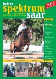 Reiter-Spektrum-Saar Ausgabe 1-2008