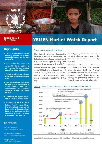 YEMEN Market Watch Report