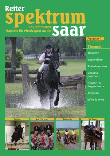 Reiter-Spektrum-Saar Ausgabe 1-2009