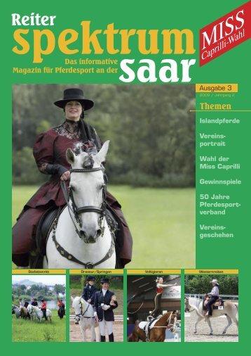 Reiter-Spektrum-Saar Ausgabe 3-2009