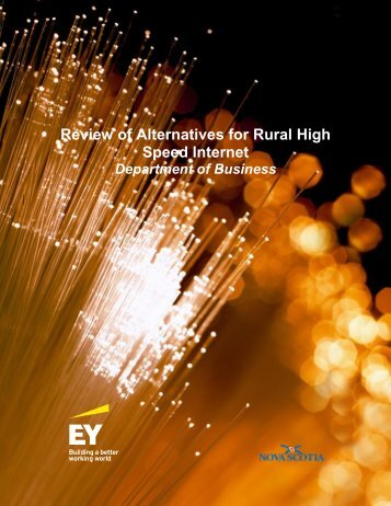 Review of Alternatives for Rural High Speed Internet