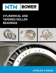 NTN - Cylindrical and Tapered Roller Bearings