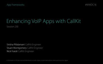 Enhancing VoIP Apps with CallKit