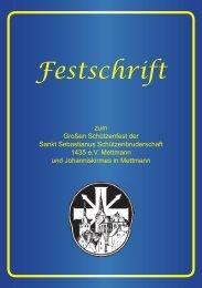 St. Seb. Schützenbruderschaft 1435 e.V. Mettmann - Festschrift 2016