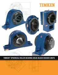 Timken - Spherical Roller Bearing Solid-Block Housed Units