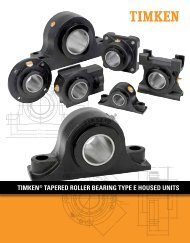 Timken - Tapered Roller Bearing Type E Housed Units