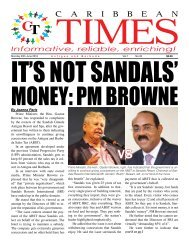 Caribbean Times 33rd Issue - Monday 20th June 2016