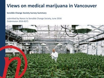 Views on medical marijuana in Vancouver