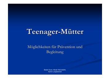 Teenager-Mütter - Die Rummelsberger Dienste für junge Menschen