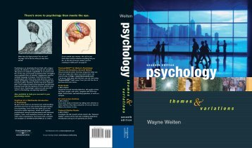 Wayne Weiten - Cengage Learning