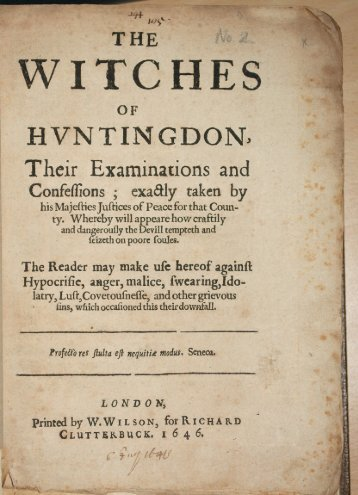 The Huntington Witch Trial