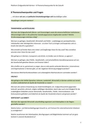 8-Themen-Fragen_Plattform-Zivilgesellschaft-Kärnten_gesammelt_070414