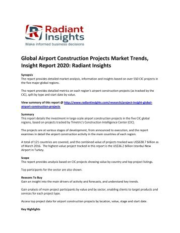 Global Airport Construction Projects Market  Size, Trends, Emerging Trends and Opportunities to 2020