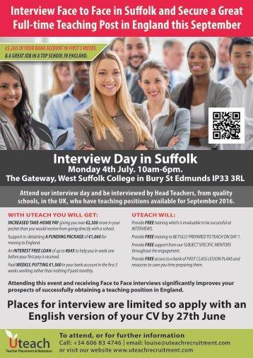 Interview Day in Suffolk