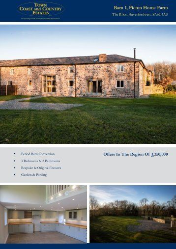 Barn 1 Picton Home Farm Offers In The Region Of £350,000