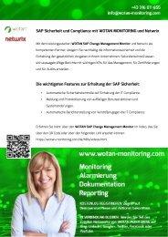 WOTAN SAP Change Management Monitor und Netwrix
