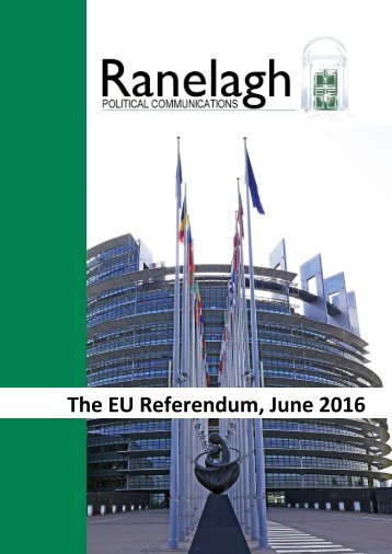 The EU Referendum June 2016