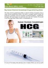 Buy Human Chorionic Gonadotropin Drugs Online