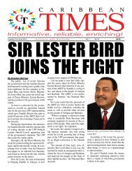 Caribbean Times 34th Issue - Tuesday 21st June 2016