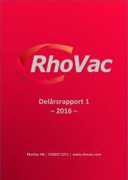 Delårsrapport 1 – 2016 –