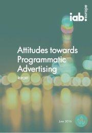 Attitudes towards Programmatic Advertising