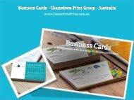 Business Cards - Chameleon Print Group - Australia