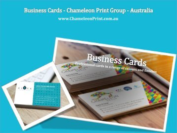 Business Cards - Chameleon Print Group - Australia
