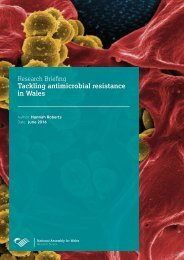 Tackling antimicrobial resistance in Wales