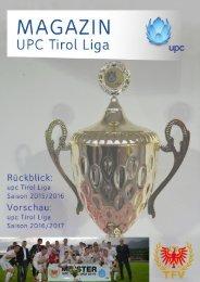 UPC Tirol Liga Magazin 2016/2017