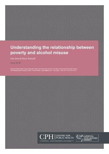 Understanding the relationship between poverty and alcohol misuse