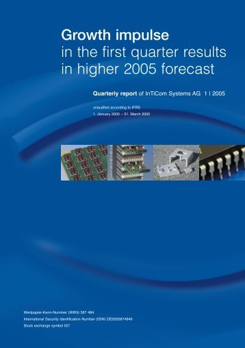Growth impulse in the first quarter results in higher 2005 forecast
