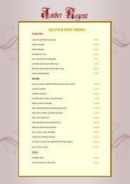 Gluten Free Menu Amber Regent