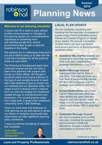 Planning News
