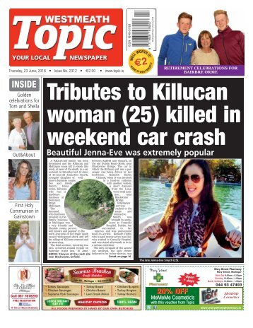 Westmeath Topic - 23 June 2016
