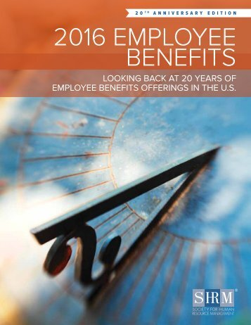 2016 EMPLOYEE BENEFITS