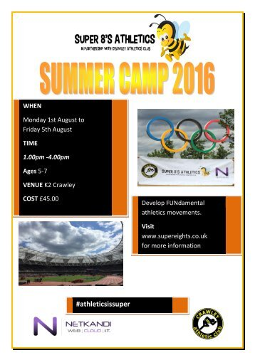 Summer Camps 2016 poster