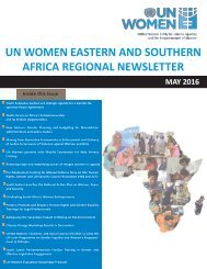 UN WOMEN EASTERN AND SOUTHERN AFRICA REGIONAL NEWSLETTER