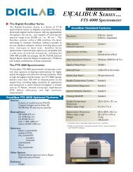 SERIES ... FTS 4000 Spectrometer