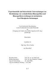 Experimentelle und theoretische Untersuchungen zur Bestimmung ...