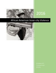 Addressing African American Inner-City Violence