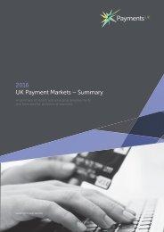 2016 UK Payment Markets – Summary